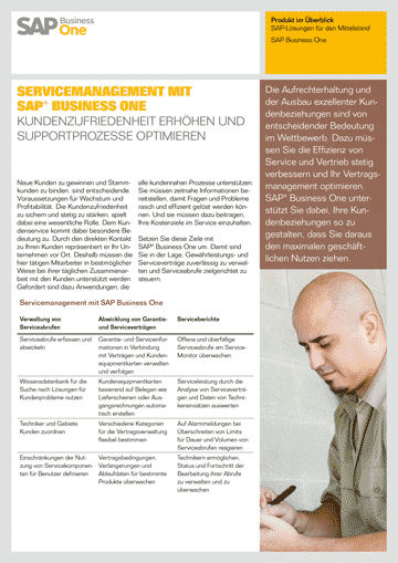 Servicemanagement mit SAP Business One