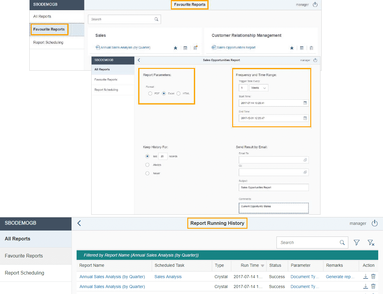 SAP Business One Version 9.3 - Business Intelligence - Analytical Portal II