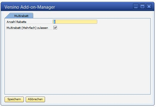 Multidiscount Addon SAP Business One Administration
